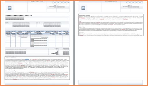 purchase order terms  conditions template uk