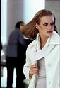 Patti Hansen Wearing A White Raincoat Photograph by Arthur ...