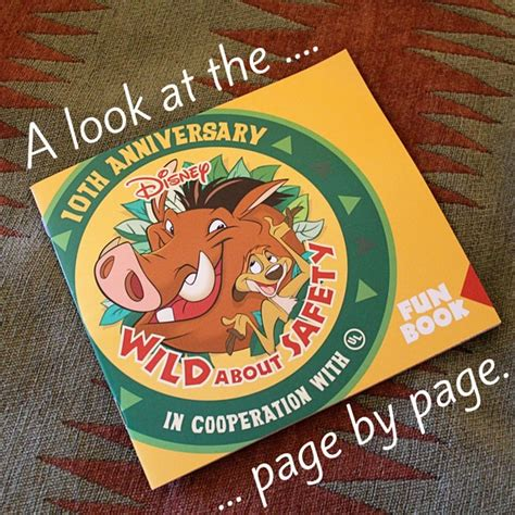disney wild  safety fun book