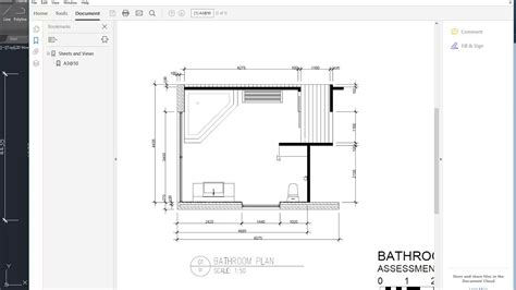 How To Design A Bathroom Floor Plan by Autocad Bathroom Plan Drawing