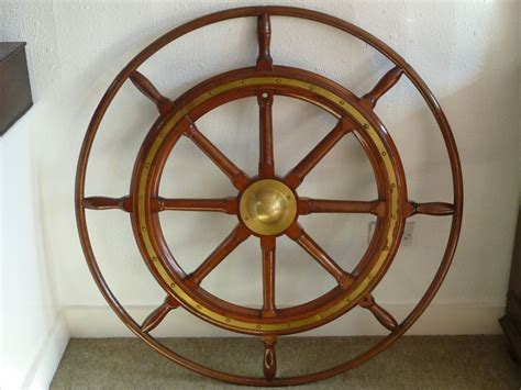 watts antiques large vintage ships wheel