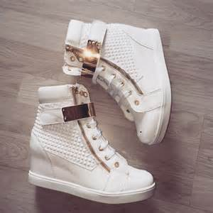 White High Top Shoes for Girls