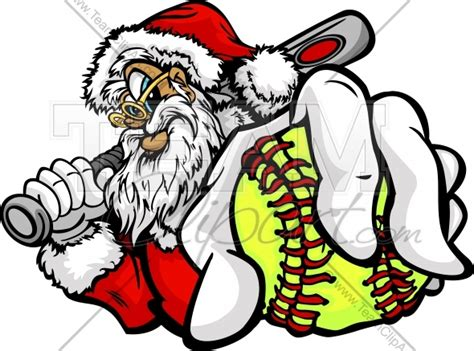 Fastpitch Softball Christmas Holiday Happy Santa Claus