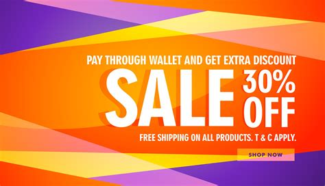 bright color sale discount banner template - Download Free ...