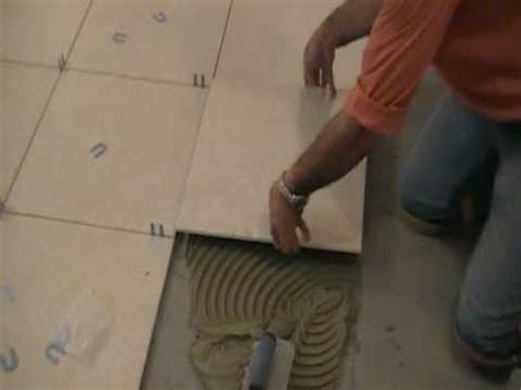 Installing 24x24 Porcelain Tiles by How To Install Porcelain Tiles Or Ceramic Tiles 7 Of 9