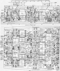 Plan And Elevation Of The Queen Mary U0026 39 S Engine Rooms
