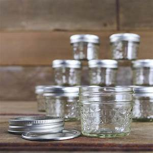 ball mason 4oz quilted jelly jars with lids and bands set With 4 oz mason jar lid labels