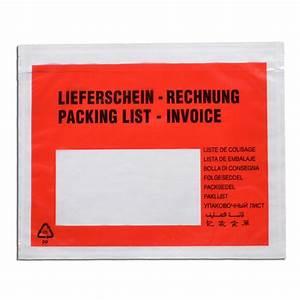 Lieferschein Blanko : dokumententaschen c5 fr din a5 lieferschein rechnung 250 ~ Themetempest.com Abrechnung