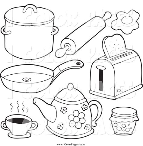 Coloring Utensil by Kitchen Utensil Colouring Pages Sketch Coloring Page