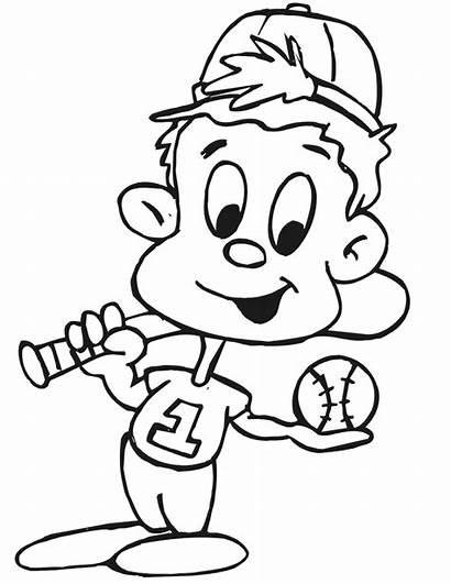 Baseball Coloring Player Printable Pages Bat Printactivities