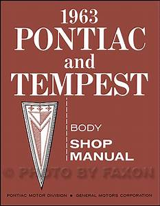 1963 Pontiac Repair Shop Manual Original