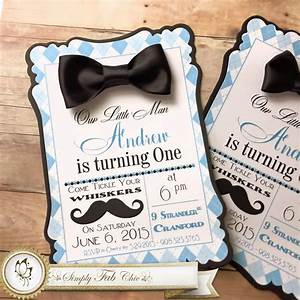 Little Man Mustache Bow Tie 1st Birthday Simply Fab & Chic
