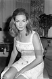 Pia Lindstrom Ingrid Bergman's daughter in a hotel room ...
