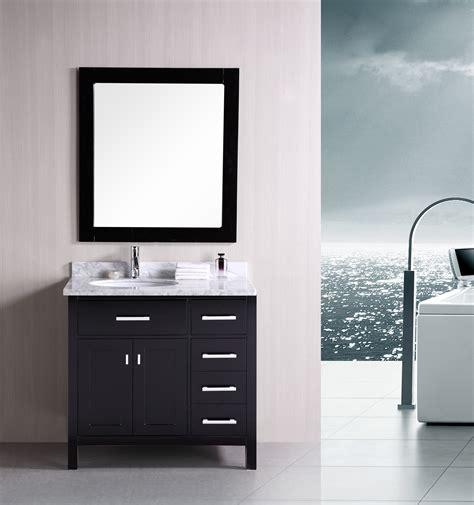 designer vanities for bathrooms adorna 36 quot contemporary bathroom vanity set espresso vanity