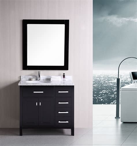 "Adorna 36"" Contemporary Bathroom Vanity Set Espresso Vanity"