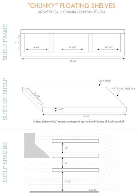 ana white bigger stronger kitchen floating shelves