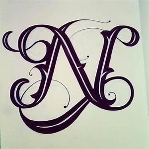 Clemover - N Letter   Tattoo's   Pinterest   Calligraphy ...