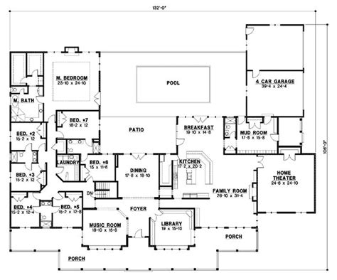 6 bedroom house floor plans 6 bedroom country house plans creative home design
