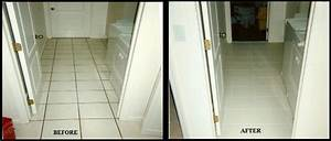 Tile grout cleaning repair color before and after for Cleaning bathroom walls before painting