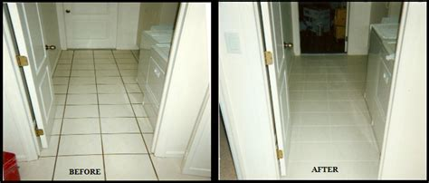 Tile Grout Cleaning Repair Color Before and After
