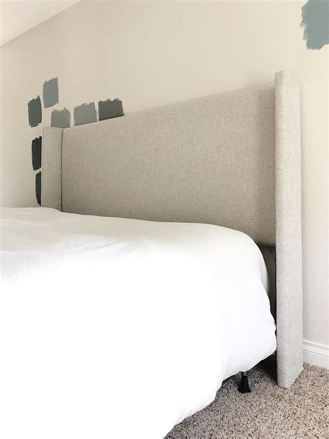 Headboard Diy Upholstered by Diy Upholstered Wingback Headboard For 80