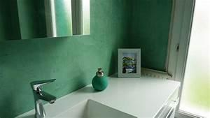 Beton cire salle de bain mur solutions pour la for Salle de bain design avec résine décorative pour sol