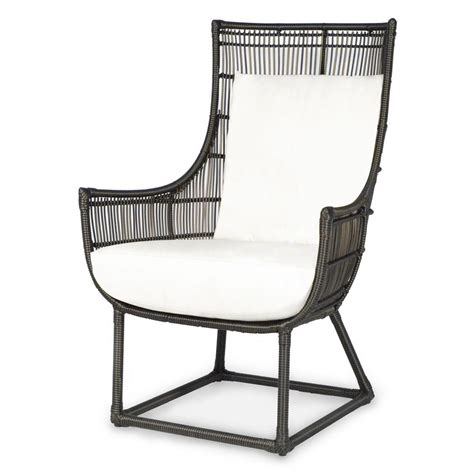 modern classic faux wicker espresso outdoor lounge