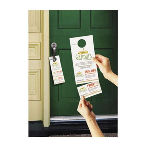 Avery Laser Inkjet Tear Away Cards Door Hanger Ave16150 Avery 16150 4 1 4 Quot X 11 Quot Printable Door Hanger With Tear