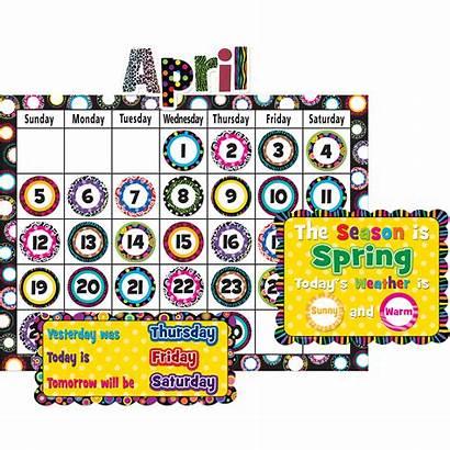 Bulletin Calendar Board Display Fancy Circles Teacher