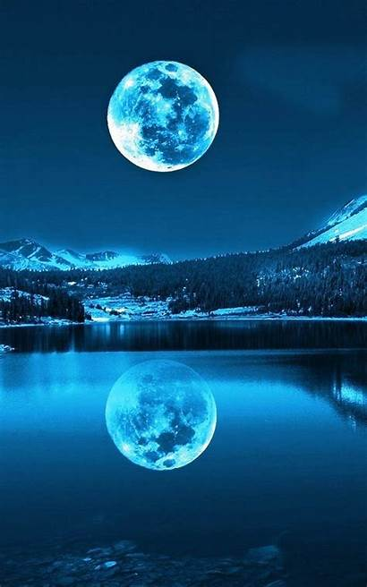 Moon Moonlight Wallpapers Android Screen Landscape Phone
