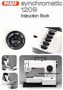 Pfaff 1209 Synchromatic Instruction Manual