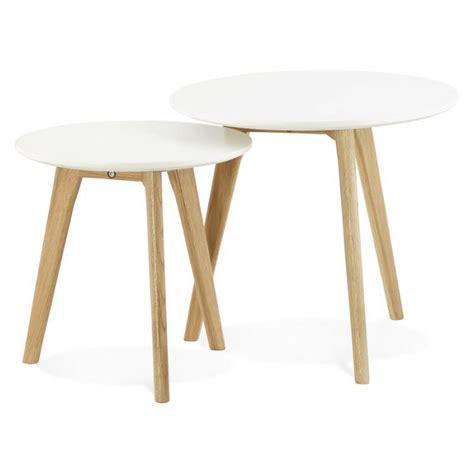 tables basses design gigognes art en bois  chene massif
