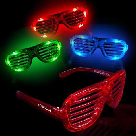 things that light up light up led slotted glasses things we