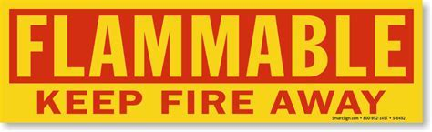 Flammable Keep Fire Away   Magnetic Cabinet Label, SKU: S