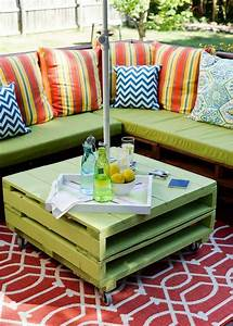 table basse de jardin a faire soi meme 24 idees creatives With idee de couleur pour salon 13 la table basse design en mille et une photos avec beaucoup