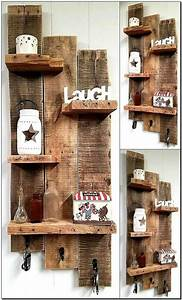 unique pallet furniture ideas for your home or patio With kitchen cabinets lowes with wall art using pallets