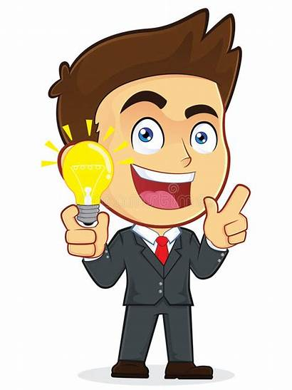 Idea Creative Businessman Clipart Character Illustration Vector