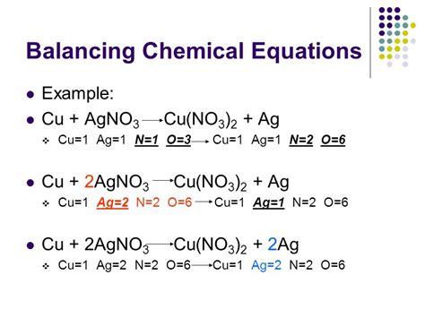 Balancing Chemical Equations Sample Questions Tessshebaylo