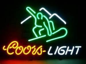 Coors Light Snowboard Ski Bar Neon Light Sign 16 x 15