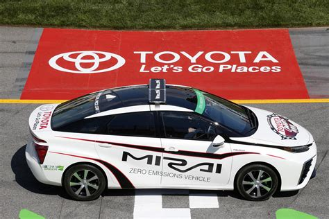 2016 Toyota Mirai Is First Fuel-cell Car To Pace A Nascar