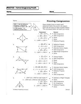 math worksheets congruent triangle proofs geometry unit 8 congruent triangles 2 column proofs sss sas hl worksheet