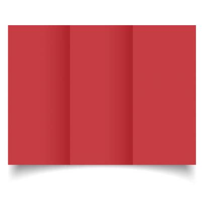 dl trifold christmas red card blanks