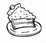 Slice Cake Coloring Drawing Pages Clipart Cakes Tocolor Place Getdrawings Clipartmag Children sketch template