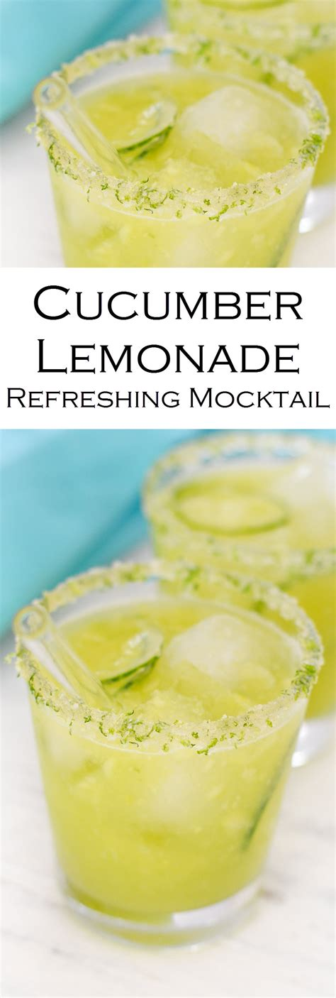 cucumber lemonade refreshing mocktail lucis morsels