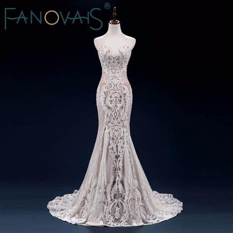 2017 Vintage Lace Wedding Dress Mermaid Wedding Dresses