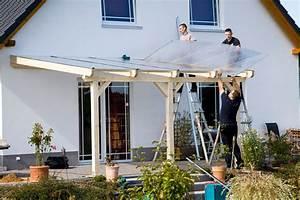 Sichtschutz Befestigung Auf Mauer : aufbau einer leimholz terrassen berdachung winter garden ~ Watch28wear.com Haus und Dekorationen