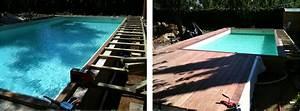 Bois Pour Terrasse Piscine : terrasse bois piscine waterair diverses ~ Edinachiropracticcenter.com Idées de Décoration