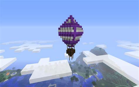 minecraft building ideas hot air balloon