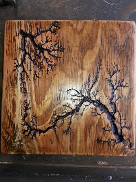 plywood  clear satin stain wood burning art wood