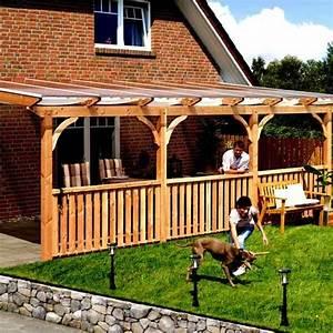 toit de terrasse bois massif douglas karibu 350 achat With toit de terrasse en bois